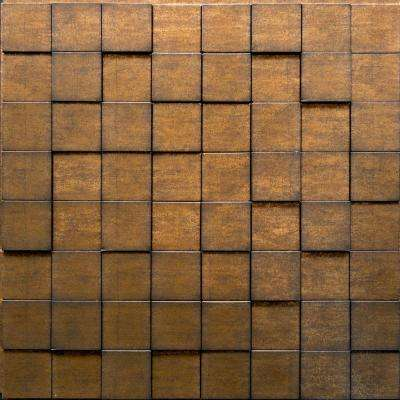 Harmony Cubes 24 in. x 24 in. Gold Thread PVC Wall Panel