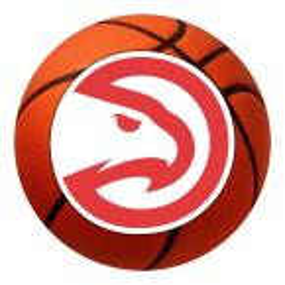 NBA - Atlanta Hawks Photorealistic 27 in. Round Basketball Mat