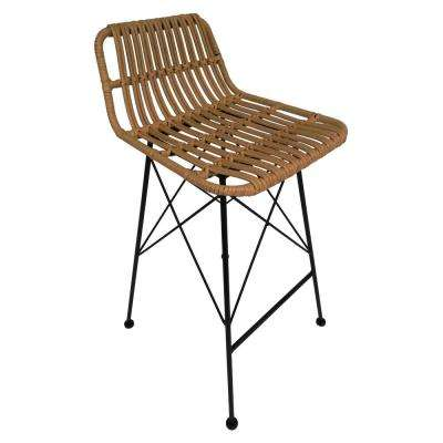 37 in. Brown Metal Bar Stool