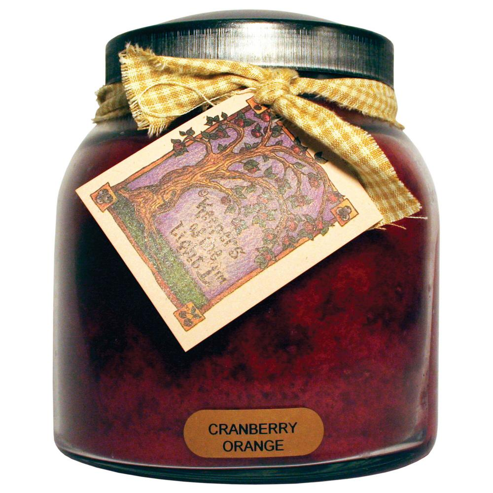 Cranberry Orange Glass Candle