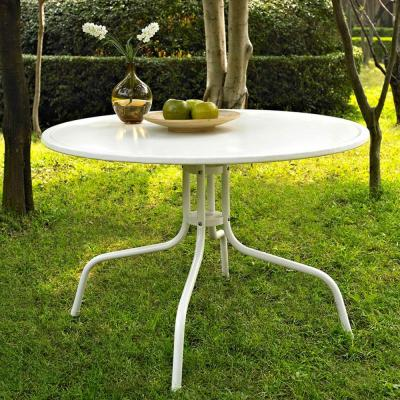 Griffith White Metal Patio Dining Table