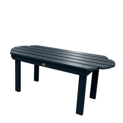 Classic Westport Federal Blue Rectangular Recycled Plastic Outdoor Coffee Table