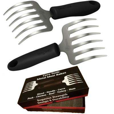 Pulled Pork Shredder Rakes - Stainless Steel BBQ Meat Claws - Shredding Handling and Carving Barbecue From Grill Smoker