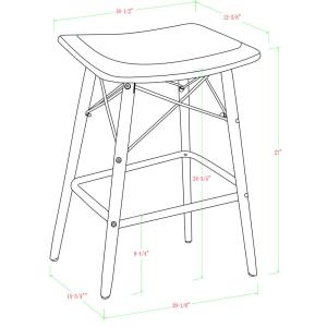 Prime Walker Edison Furniture Company Retro Modern 26 In Solid Ocoug Best Dining Table And Chair Ideas Images Ocougorg