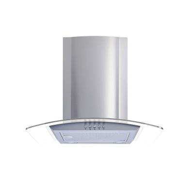 30 in. Convertible Glass Wall Mount Range Hood in Stainless Steel with Mesh Filters and Push Button Control