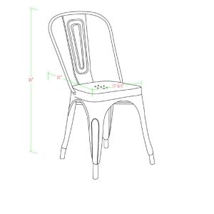 Groovy Walker Edison Furniture Company Stackable Metal Cafe Bistro Theyellowbook Wood Chair Design Ideas Theyellowbookinfo