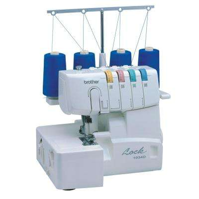 Serger Sewing Machine with Easy Lay In Threading