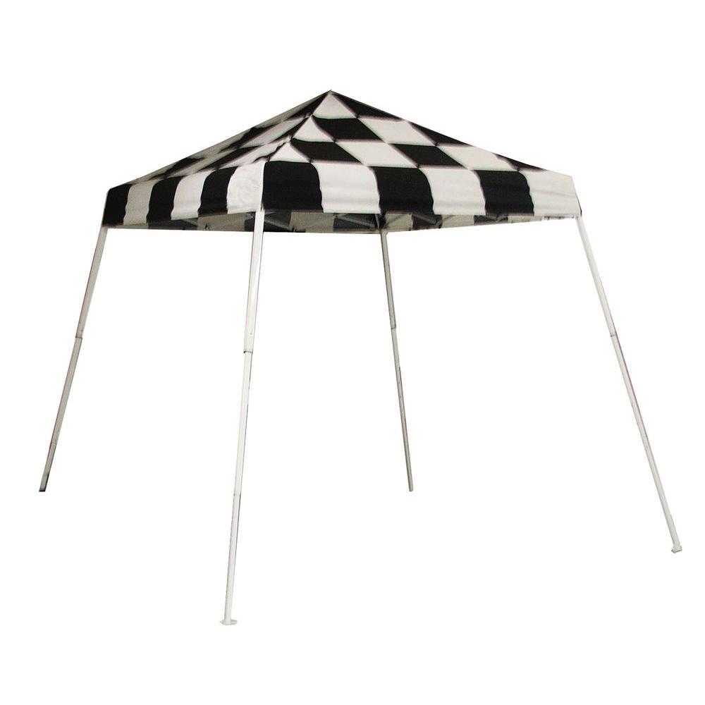 ShelterLogic Sports Series 8 ft. x 8 ft. Checkered Flag Slant Leg Pop-Up Canopy