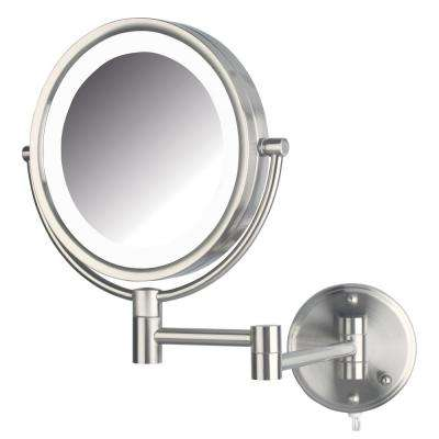 11 in. x 14 in. Bi-View LED Lighted Wall Makeup Mirror