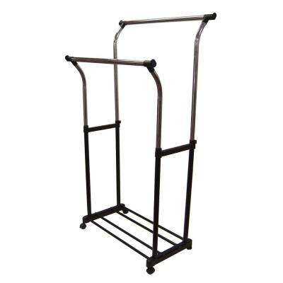 33.75 in. x 67 in. Double Adjustable Garment Rack