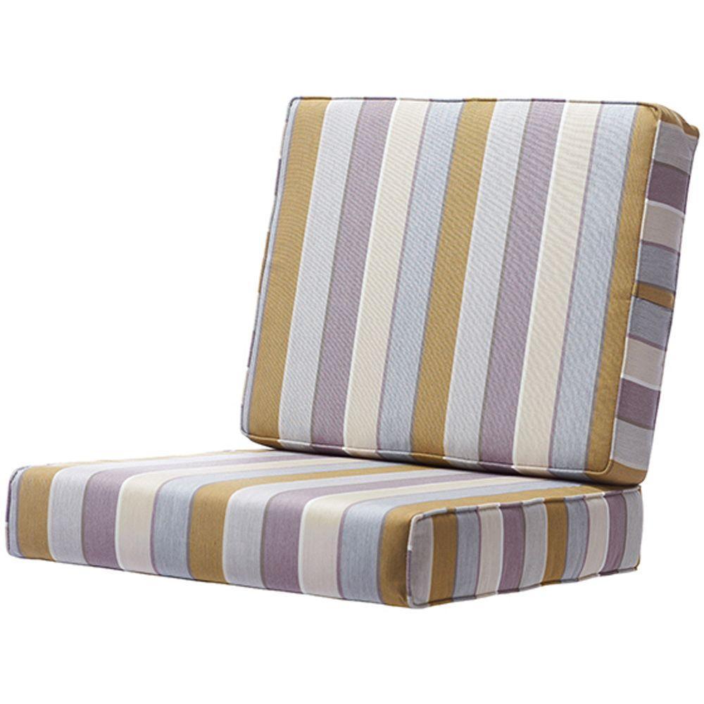 Home Decorators Collection 25 in. x 48 in. Milano Dawn Sunbrella Deep Seating Box-Edge Outdoor Chair Cushion