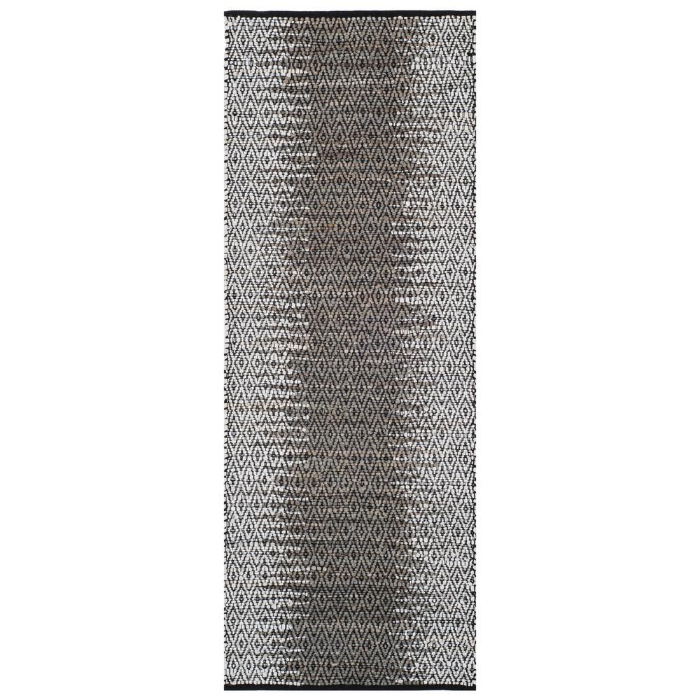 Vintage Leather Light Gray/Gray 2 ft. x 9 ft. Runner Rug