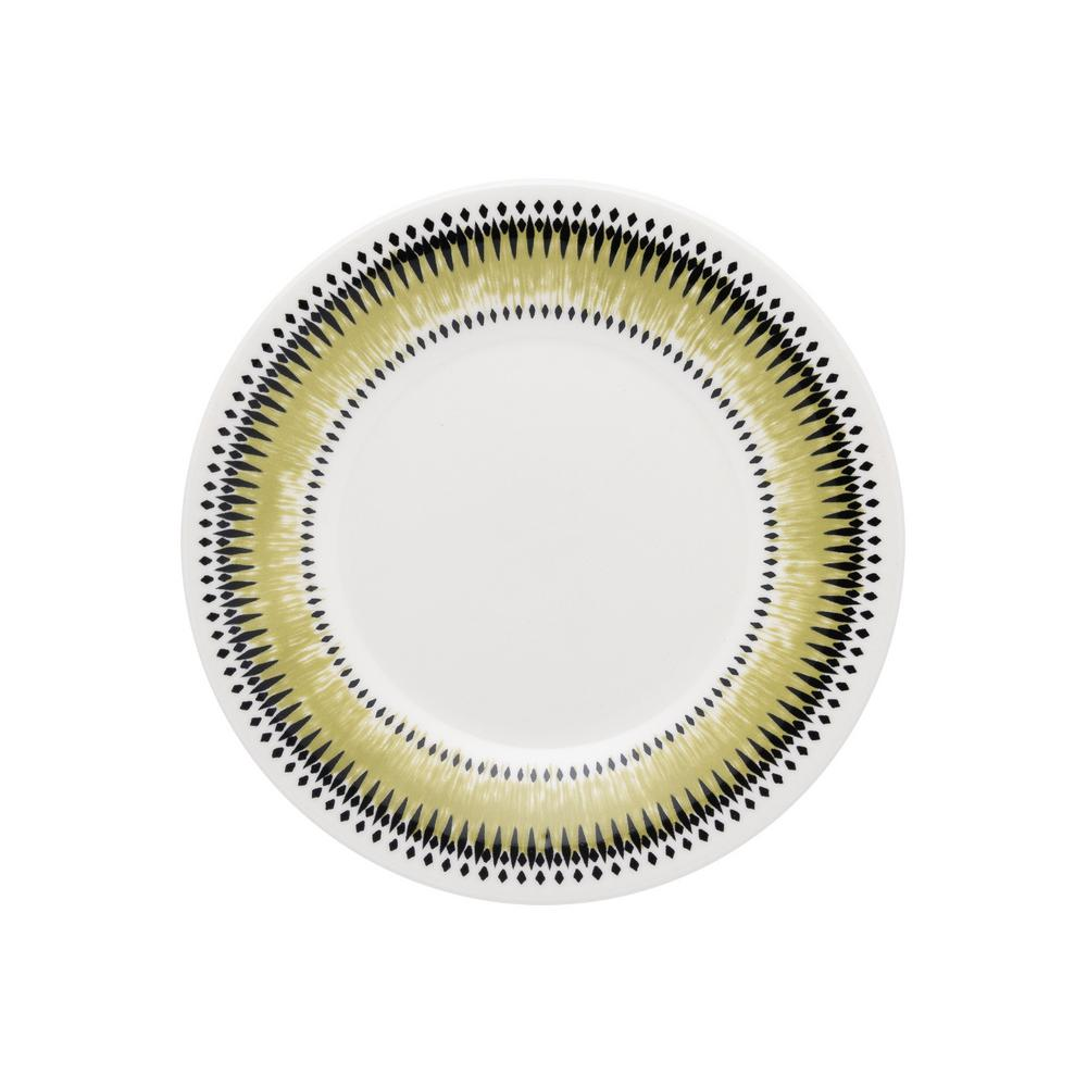 Manhattan Comfort 7.48 in. Actual Green and Black Salad Plates (Set of 12) was $99.99 now $52.5 (47.0% off)