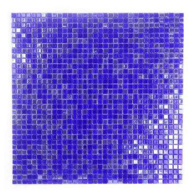 Constellation Purple Blue 11.7 in. x 11.7 in. x 3.20 mm Glass Mosaic Tile