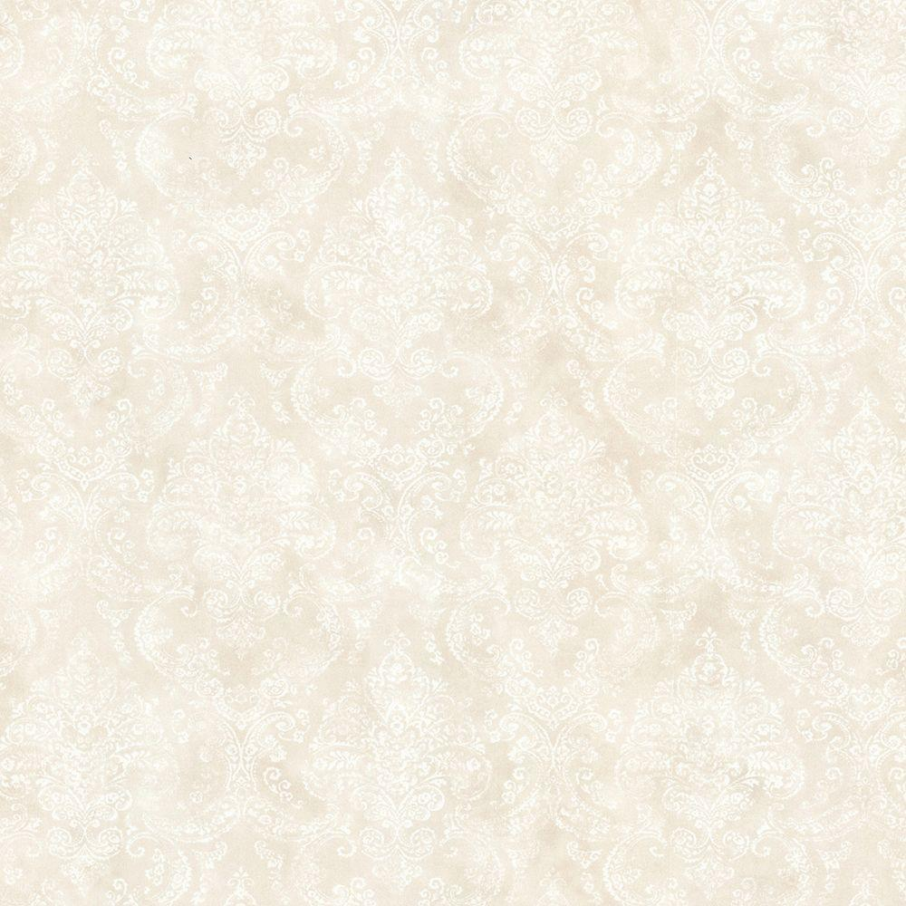 Jillian Champagne Damask Paper Strippable Roll Wallpaper (Covers 56.4 sq. ft.)