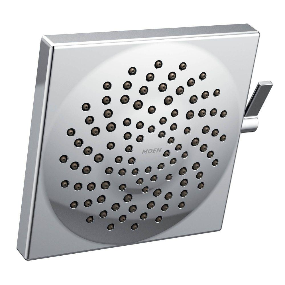 moen 10 inch rain shower head. MOEN Velocity 2 Spray 8 5 in  Square Rainshower Showerhead Featuring Immersion Chrome