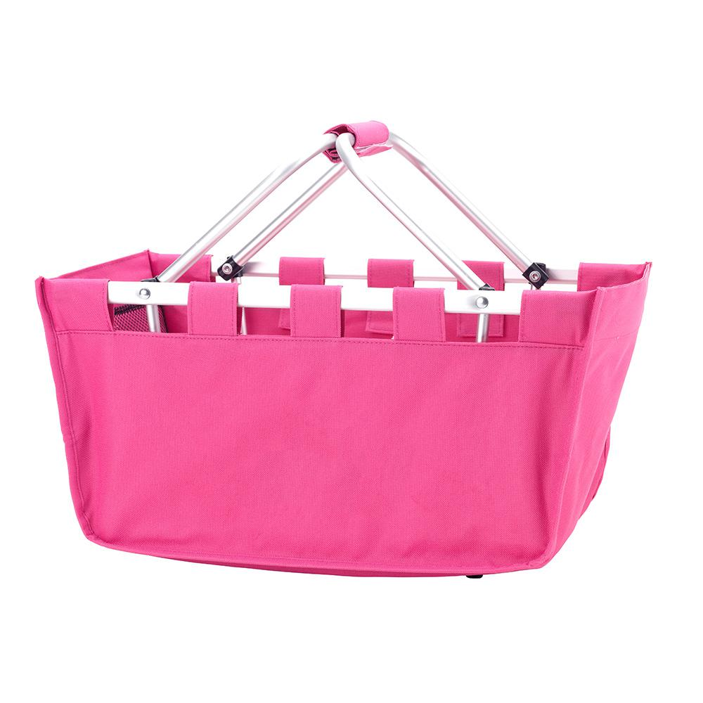 Hot Pink Polyester Market Tote Bag, Women's