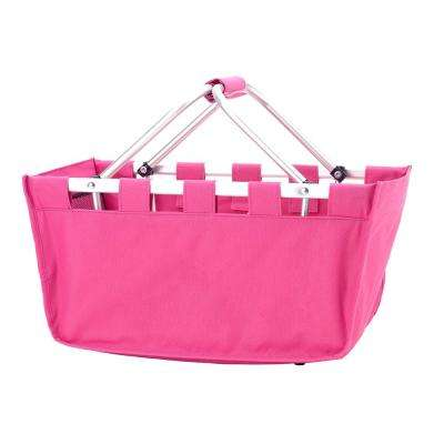 Hot Pink Polyester Market Tote Bag