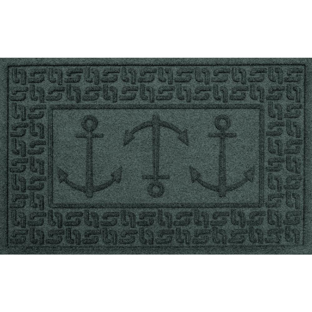 Aqua Shield Evergreen 24 In. X 36 In. Ahoy! Polypropylene Door Mat