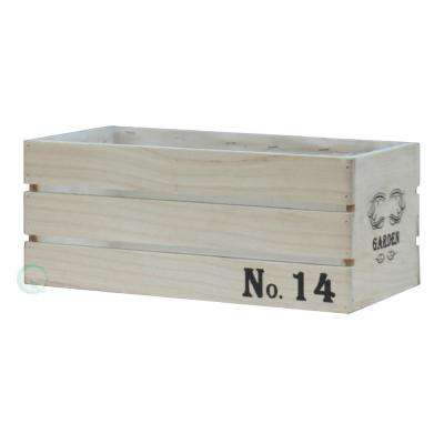 14 in. W x 7 in. D x 5.75 in. H Large Distressed Wood Crate Planters