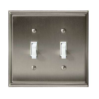 Mulholland 2-Toggle Wall Plate, Satin Nickel