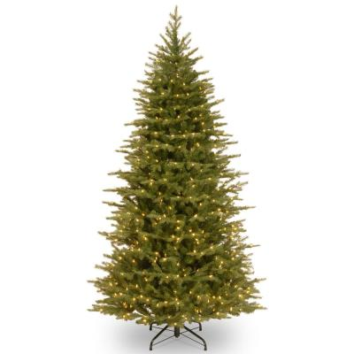 6-1/2 ft. Feel Real Nordic Spruce Slim Hinged Tree with 650 Clear Lights