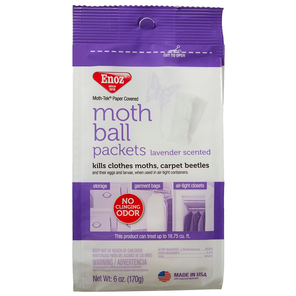 Enoz 6 oz. Moth Ball Packets in Lavender Scented (3-Pack)
