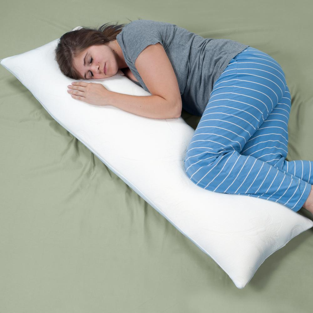 Remedy Complete Comfort Shredded Memory Foam Body Pillow