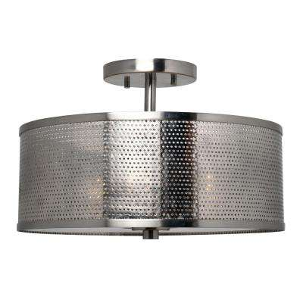 Mesha 3-Light Steel Semi Flush Mount