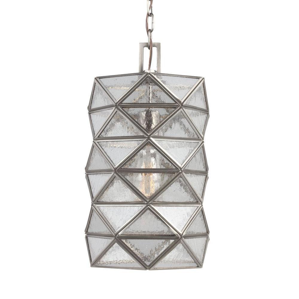 Harambee 1-Light Antique Brushed Nickel Indoor Pendant