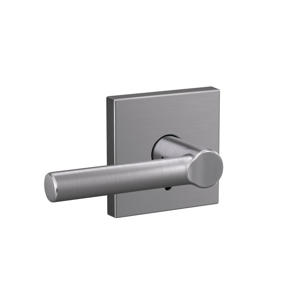 Custom Broadway Satin Chrome Collins Trim Dummy Door Lever (2-pack)