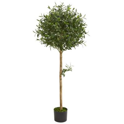 Indoor 5 ft. Olive Topiary Artificial Tree