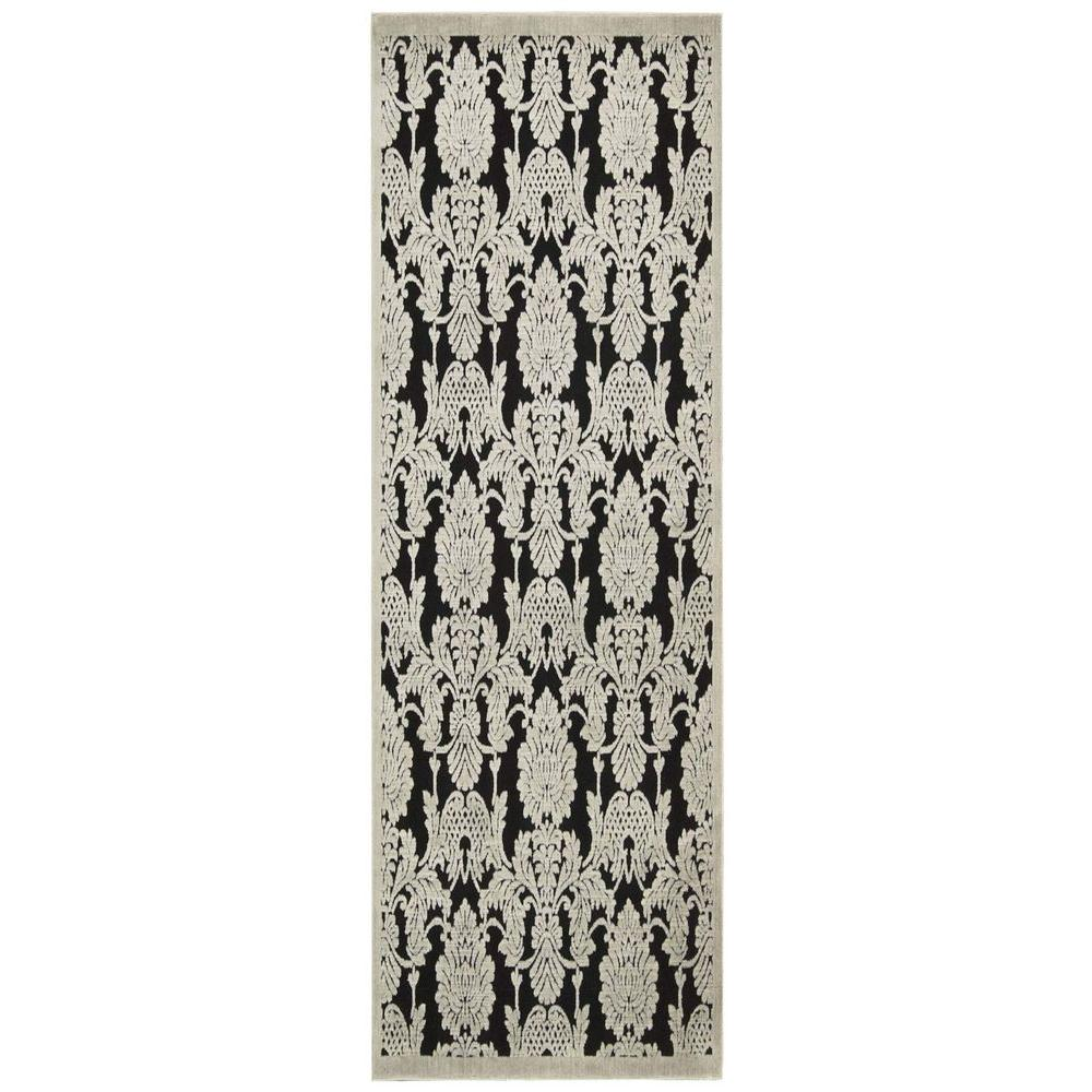 Graphic Illusions Black 2 ft. 3 in. x 8 ft. Rug