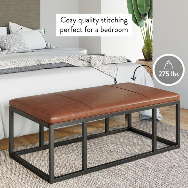 Nathan James Nelson 47 In Warm Brown Black Large Rectangle Wood Coffee Table With Storage 31801 The Home Depot