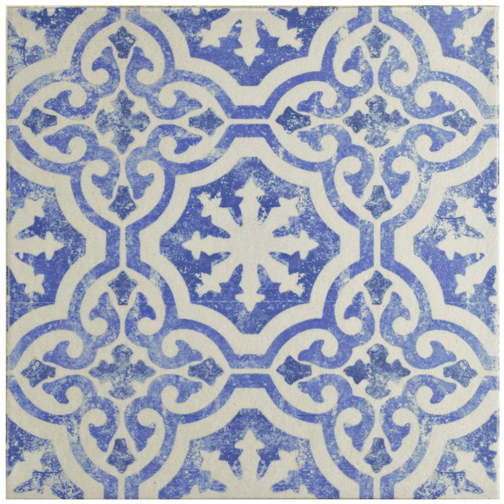 Klinker Alcazar Magnolia 12-3/4 in. x 12-3/4 in. Ceramic Floor and Wall Quarry Tile
