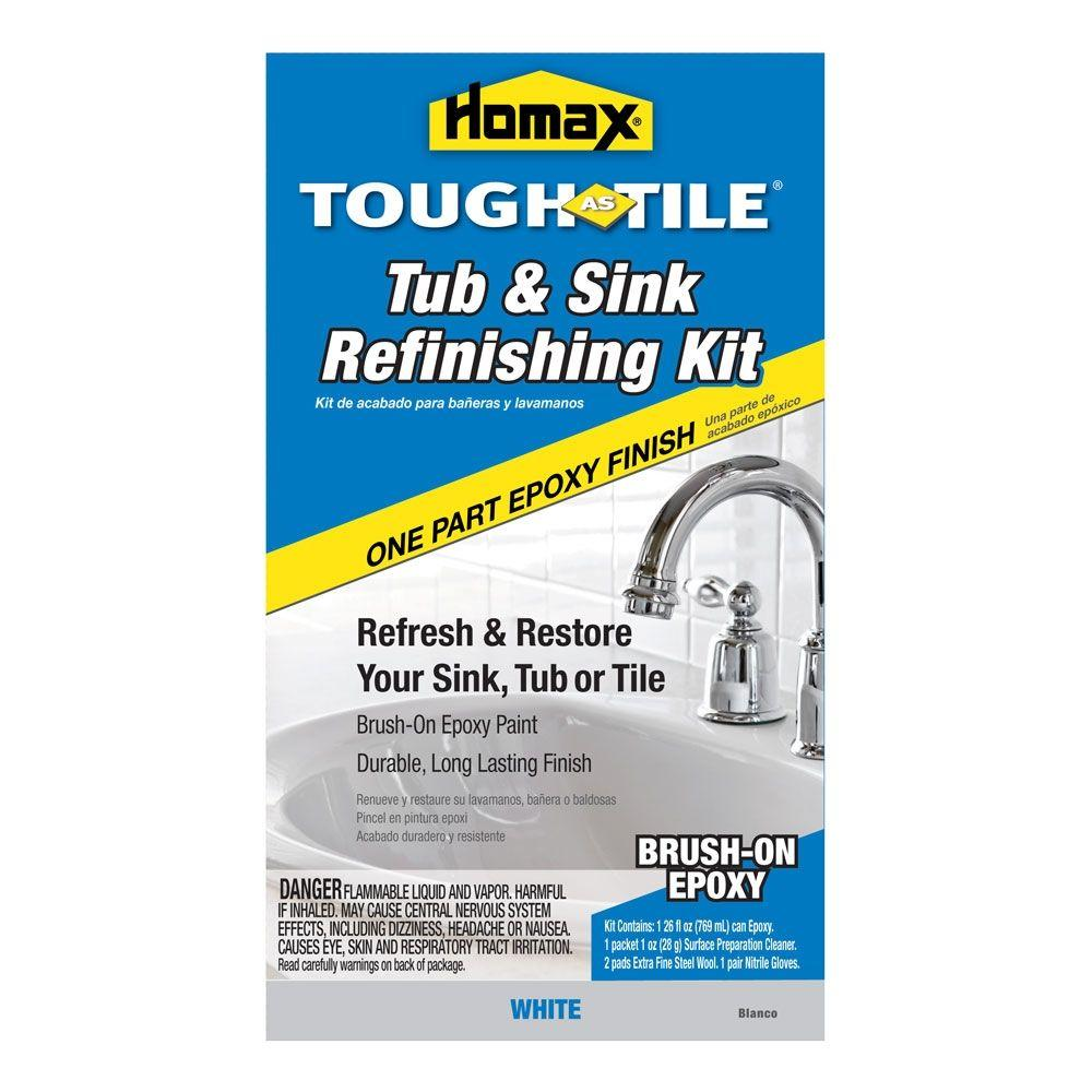 Homax 26 oz. White Tough as Tile One Part Epoxy Brush On Kit-2106 ...