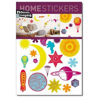 Multicolor Stars Home Sticker