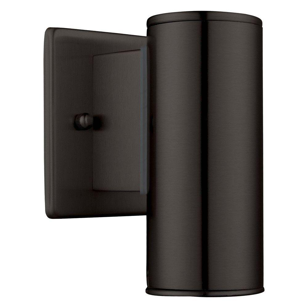 eglo riga black outdoor wall light 200032a the home depot. Black Bedroom Furniture Sets. Home Design Ideas