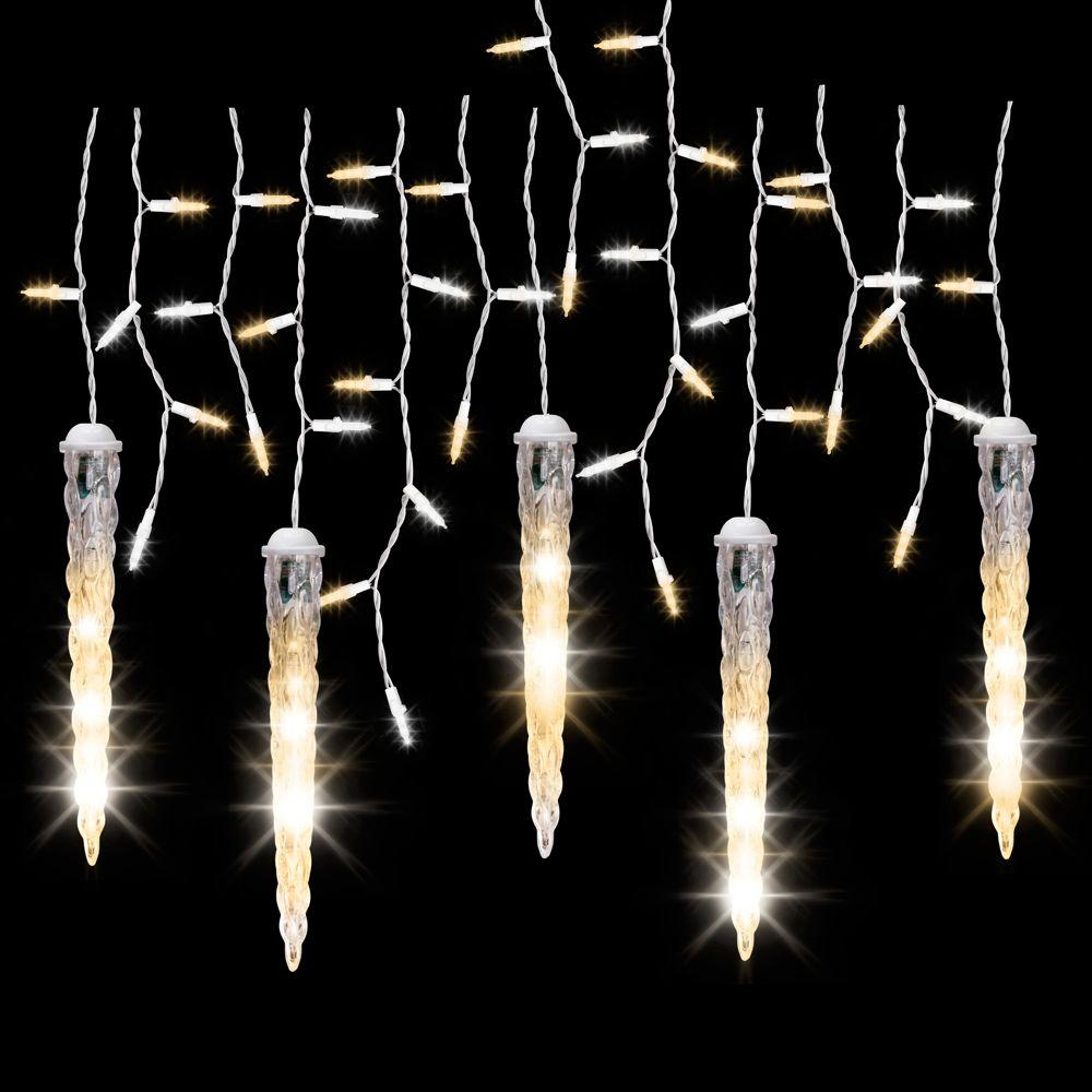 5-Light Icicle Shooting Star Frozen Fire String Light Set