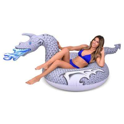 Ice Dragon Pool Float Party Tube Ride into Summer as King of the North (for Adults and Kids)