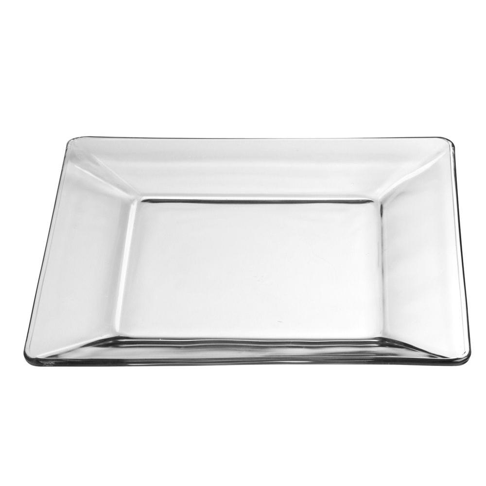 Libbey 10 in. Crisa Tempo Square Dinner Plate in Clear (Box of 12)