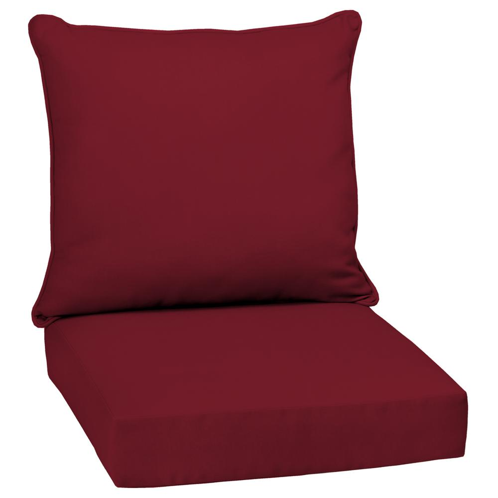 Caliente Canvas Texture 2-Piece Deep Seating Outdoor Lounge Chair Cushion
