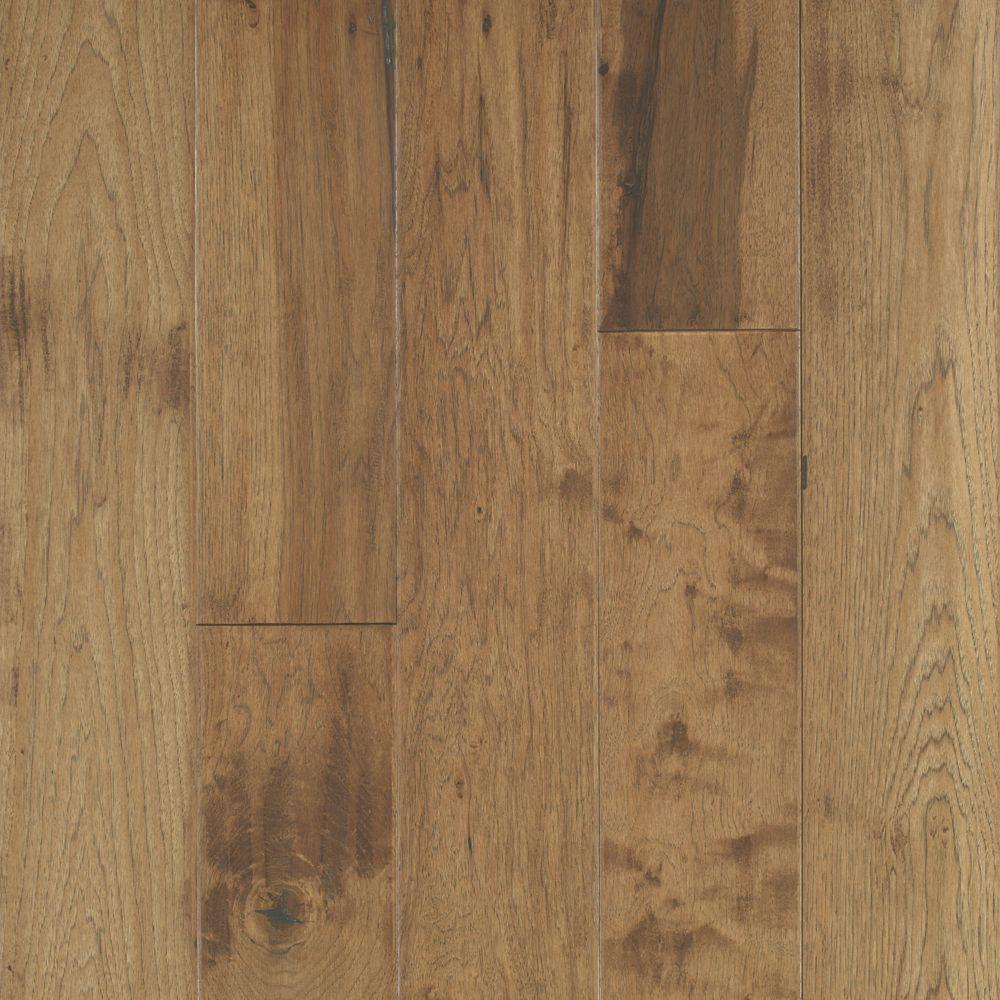 Mohawk Take Home Sample - Big Sky Collection Canyon Dusk Hickory Engineered Hardwood Flooring - 5 in. x 7 in.
