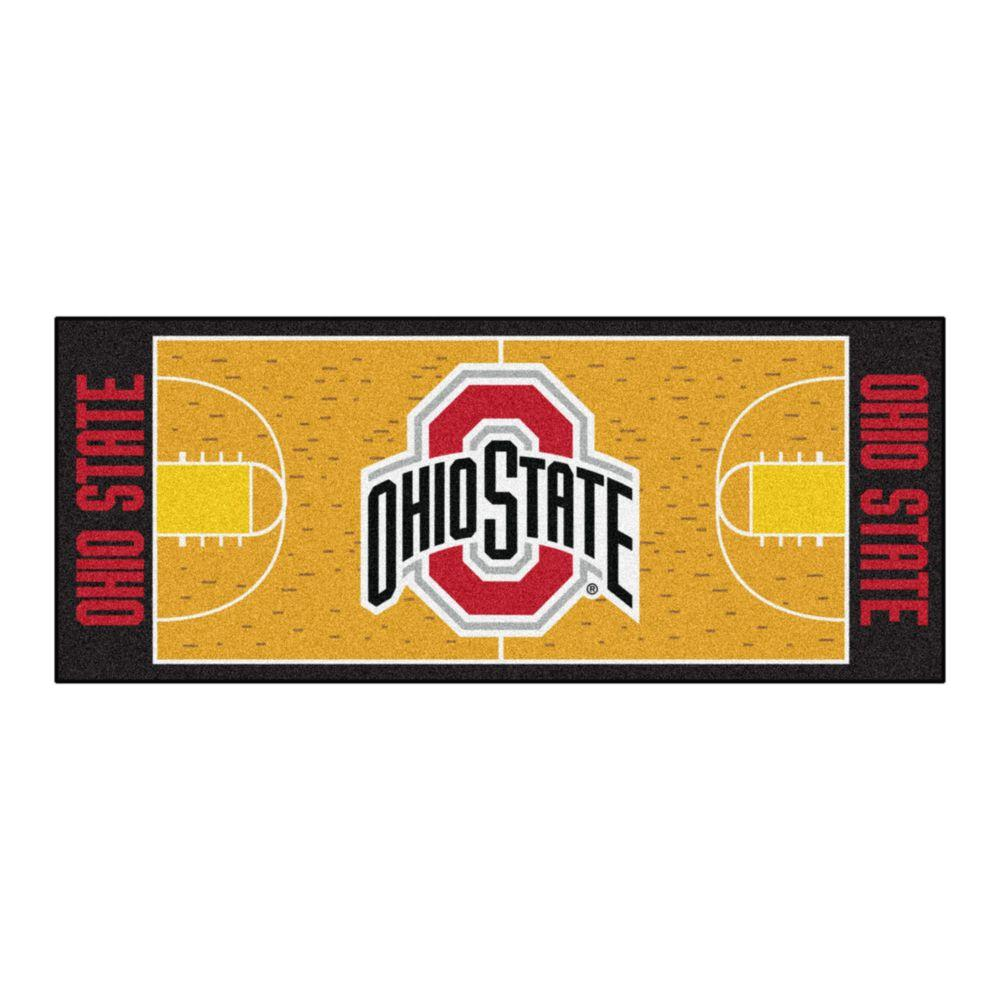 FANMATS NCAA -Ohio State University Orange 2 ft. 6 in. x 6 ft. Indoor Basketball Court Runner