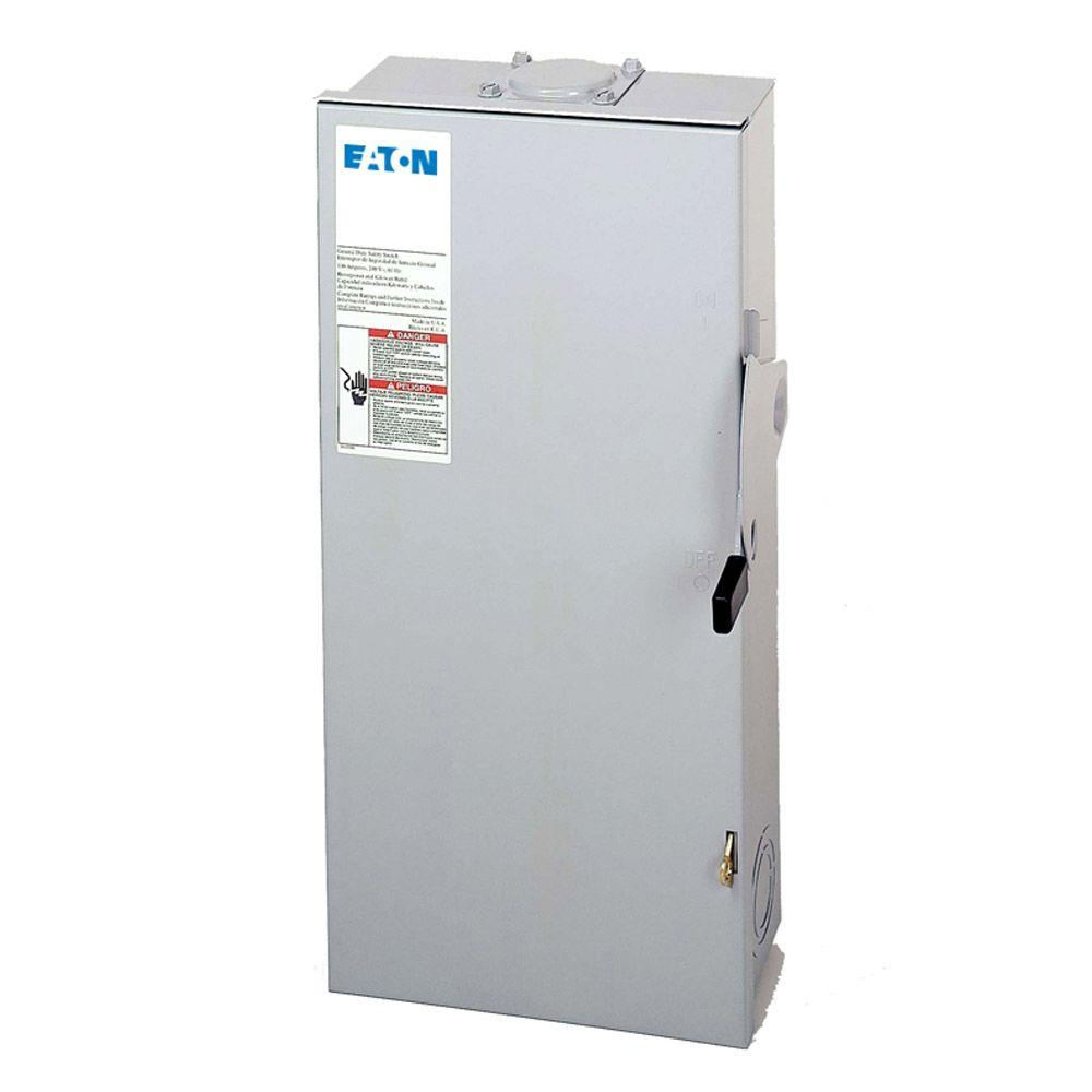Eaton 100 Amp Double Pole Fusible NEMA 3R General Duty Safety Switch ...