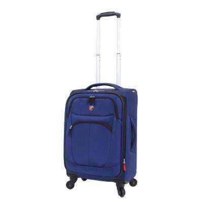 NeoLite Plus 20 in. Blue Spinner Suitcase