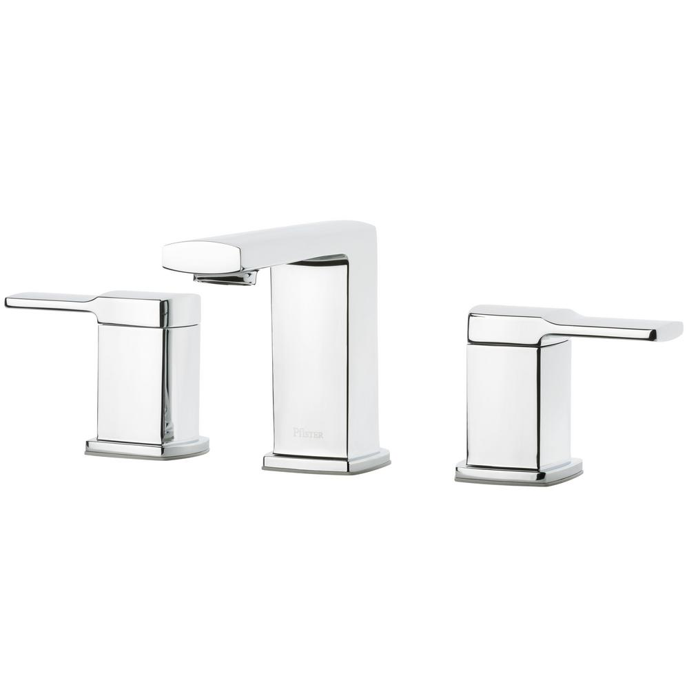 Deckard 8 in. Widespread 2-Handle Bathroom Faucet in Polished Chrome