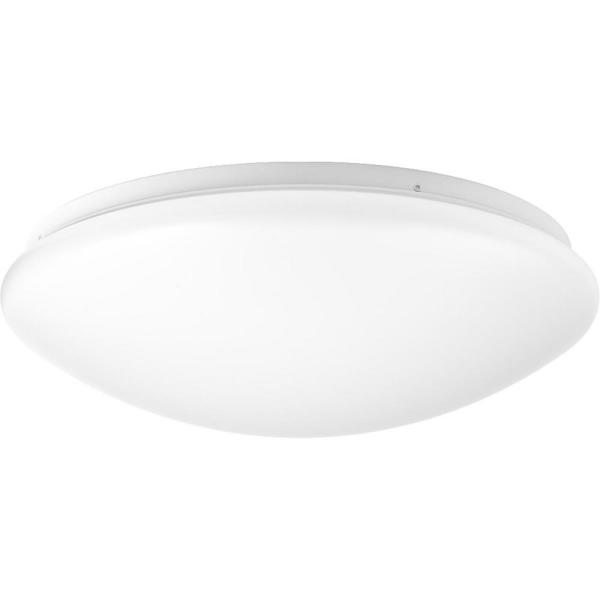 Drums and Clouds Collection 22.5-Watt White Integrated LED Flush Mount