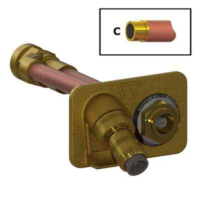 3/4 in. Female SWT x 4 in. Freezeless Brass Wall Hydrant with Double-Check Backflow Preventer