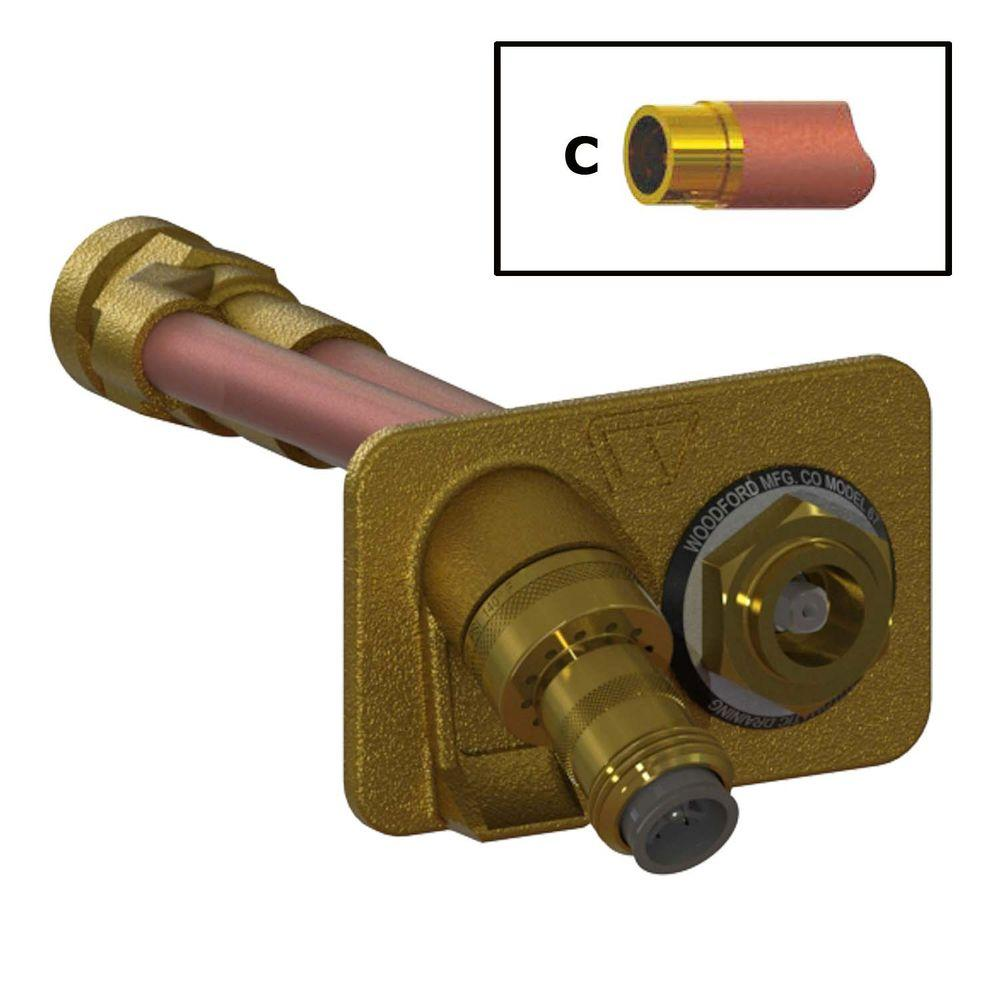 3/4 in. Female SWT x 4 in. Freezeless Brass Wall Hydrant
